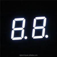 "white 0.5"" 7 segment led 2 digit FND display"