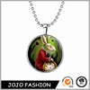 Halloween promotional gift evil rabbit necklace, glow in the dark necklace/