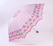 aluminium handle 3 folding umbrella