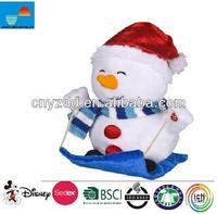 animated indoor christmas decorations/snow christmas doll/animal christmas decorations