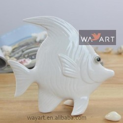New Arrivals Porcelain Fish Figurines Decorative Fish Statues