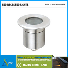 YJQ-0023 IP67 low power 1W min round recessed light LED Wall Washers