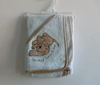 comfortable and fashionable 100% cotton terry cloth baby blanket