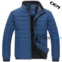 Winter men jacket with padded cotton light weight various color jacket in the lime
