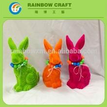 coniglio di ceramica e piccolo animale statuine in ceramica ingrosso