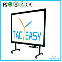 Tacteasy newest hot sale IR finger touch portable touch screen interactive whiteboard for school kids interactive tv