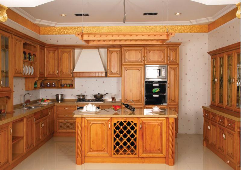 Cozinha americana de Madeira Maciça De Cozinha de LuxoArmários de cozinhaID # Armario De Cozinha Madeira Macica