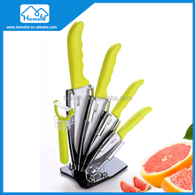 Best quality factor ceramic colored kitchen knife set