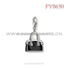 2014 black painted bag pendant , new fashion pendant in CHina