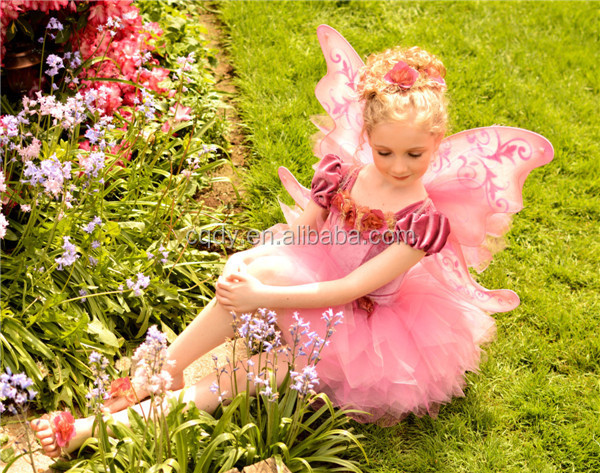 Fashion fancy dress costumes fancy dress - 2014 Fancy Children Girl Performance Wear Dress With Butterfly Wings