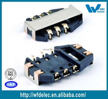 brand quality phone sim connector with bridge plate