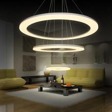 2015 hot wholesale large ring acrylic modern metal led pendant lamp