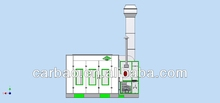 standard down draft spray painting booths downdraft spraybooth for car body shops (CE,china)