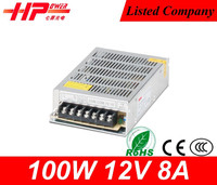 Reliable brand CE RoHS approved 12v power supply constant voltage single output 100w ac dc power supply