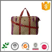 Grid luggage bag, waterproof duffel bag factory