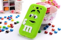 10 colors MM finger beans Silicon gel skin Cover for Samsung Galaxy S3 i9300 Case