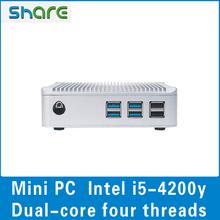 New arrive mini pc case, dual core four threads Intel i5-4200y 1.4-1.9GHz processor
