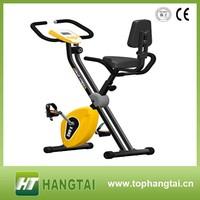 Folding Exercise Bike with Hand Monitor Upright Exercise X-Bike