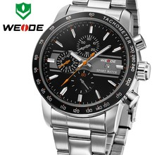 Top Sale Men Watch Military Digital Analog Sports Wristwatch quatrz stainless steel back water resistant