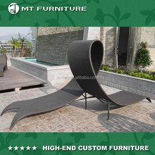 creative rattan wicker double chaise lounge outdoor furniture