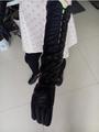 Lange geprägt schaffell langen kleid handschuhe, textilien lederwaren