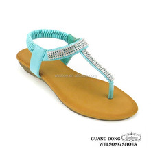 factory lowest price hifgh quality thong t-strap ankle elastic woman sandal shoes woman 2015