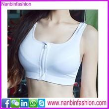 Nanbinfashion white zipper seamless bra xxx photos china