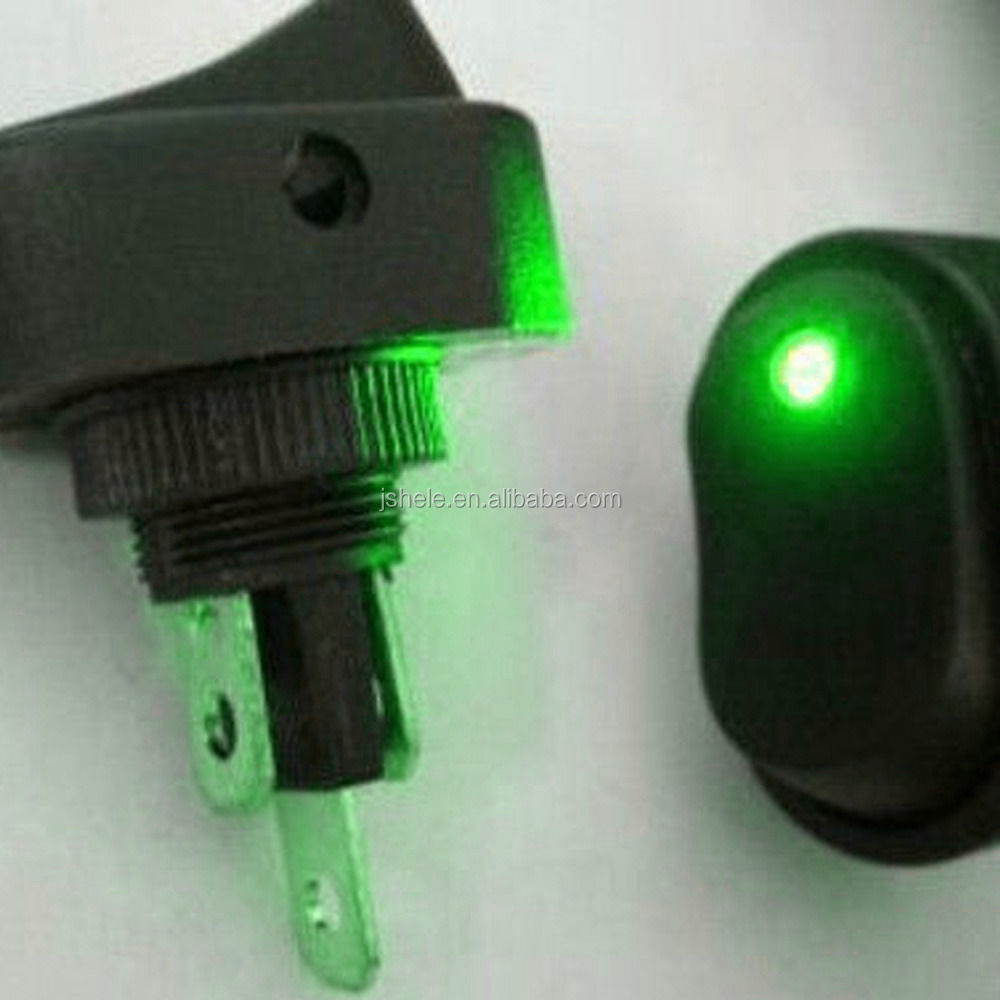 Led Light 12v 30amp 30a Car Boat Auto Rocker Spst Toggle Switch Lighted Onoff 20a 12vdc Green For