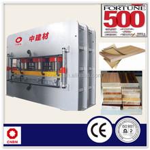 Particle Board MDF Hot Press Melamine Laminating Machine