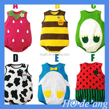 HOGIFT Wholesale children's clothing, boys and girls sleeveless Romper ,0-3 year-old fruit Coverall