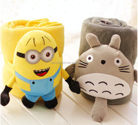 TF-0215083026-S2 minion Totoro Plush Air Conditioning Blanket Nap Blanket for Home Use