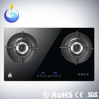 Global Patent Heat Recycle Intelligence Touch Screen tempered glass table top 2 burner gas stove with App After Service