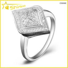 micro pave zircon 925 italian silver jewelry cad 3d design rings