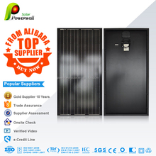 Powerwell Solar 200w Mono Black Solar Panel With CE/IEC/TUV/ISO/CEC/INMETRO Approval Standard Top Supplier Solar Kits