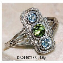 Elegant Design Multi Color Zircon 925 Silver Antique Jewelry
