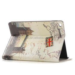 retro flip leather cover for iPad air, for ipad air 2 cover case