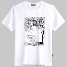 trees printed t shirt,custom white t shirt,oem service apparel
