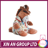 Hot selling High quality soft plush horse toy with clothes