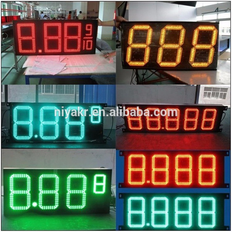 difference sizes digital seven segment fuel oil gas price display