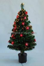 Popular Indoor Decoration Fiber Optic Flowers LED Light Ornament Christmas Tree