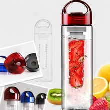 2014 fashion design plastic tritan orange lemon fruit juice infuser water bottles