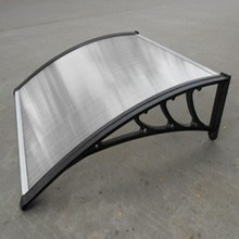 colored strong aluminium awning for cars with solid polycarbonate sheet