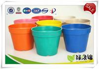 Plant fiber plant pot substitute traditional wooden plant pot