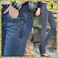 Lady Knit Jeans,Good Stretch Tight Women Jeans,Wholesale Women Jeans