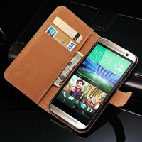 New Arrival Mobile Phone Leather Case for HTC M8 with Card Holder
