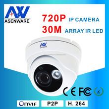 "4 Dot Array Infrared Lamps 1MP Onvif 3.6MM Lens Hisilicon Hi3518E + 1/4""OV9712 CMOS 720P Dome Top 10 Network IP Cameras"
