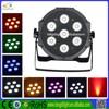 7pcs 4 in1 RGBW (RGBA) 10W led par light dmx 7 rgbw 10w flat light mini led stage lights