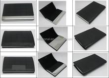 Wholesale leather name card holder box various design card holder gift set