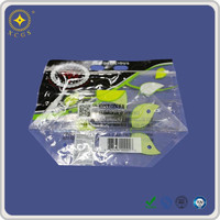 Food Grade LDPE Plastic Recycling Resealable Clear Plastic Bag