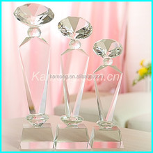 New Design Elegant Clear Glass Diamond Crystal Awards For Event Souvenir Trophy Awards Gifts